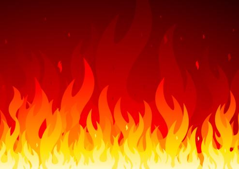 燃え上がる炎のイラスト火炎11 Backdrop