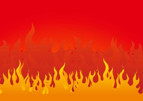 激しく燃える炎のイラスト火炎12 Backdrop