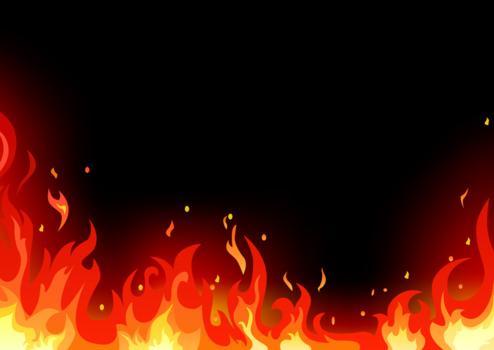 端部する炎のイラスト火炎15 Backdrop
