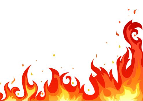 乱舞する炎のイラスト02火炎16 Backdrop