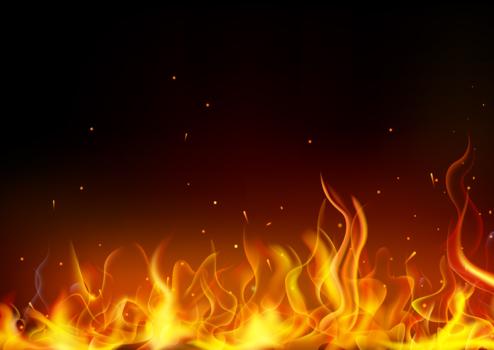 イラスト的な揺れる炎火炎 Backdrop