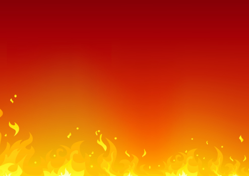 イラスト的な小さな炎火炎 Backdrop