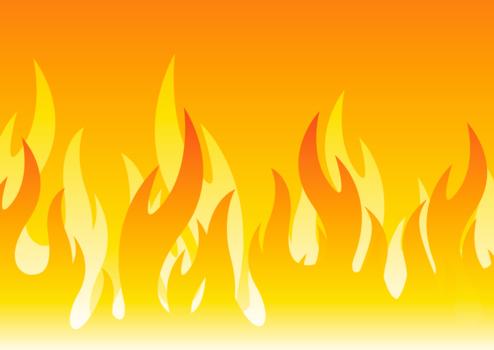 大きな炎のイラスト火炎 Backdrop